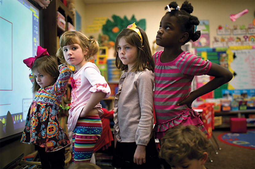 The racial composition of Tuscaloosa's schools varies.