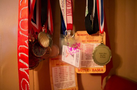 D'Leisha's medals clutter her mother's house.