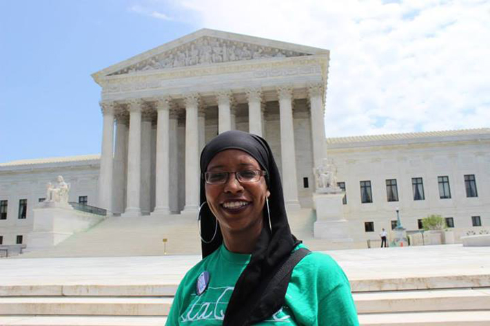 Zakiyah Ansari at the Supreme Court