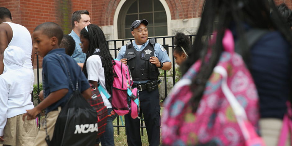 Chicago Police And Neighborhood Officials Escort Children To School– Mayor You Stole Our Children's Schools and Safety