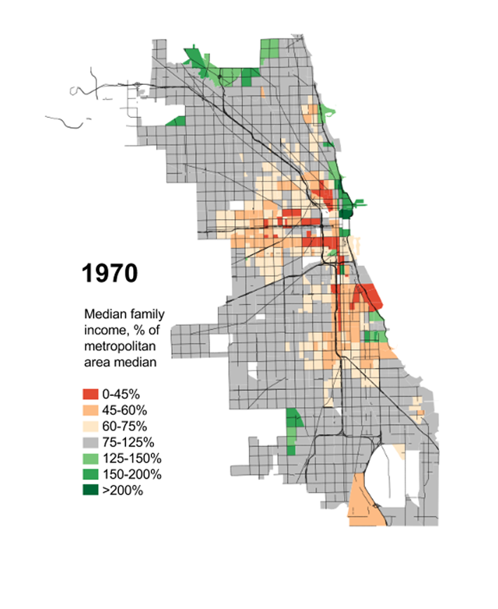 1970 Chicago Median Income by Daniel Hetz