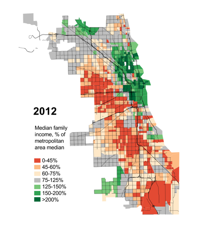 2012 Chicago Median Income by Daniel Hertz