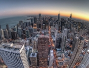 chicago-buildings-skyscrapers-sunset-fisheye_583x380