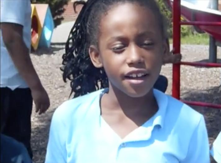 Oakman Student on Playground