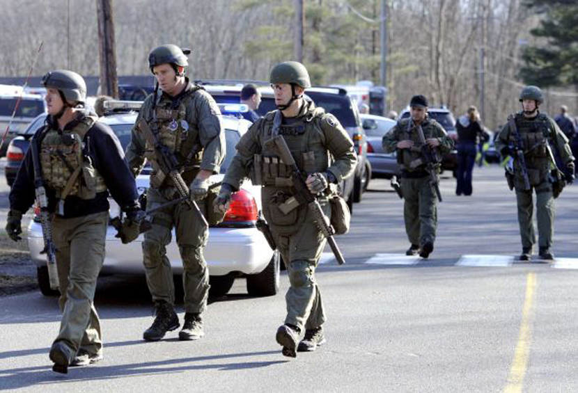 Police repond to shooting at Sandy Hook Elementary (Photo: AP)