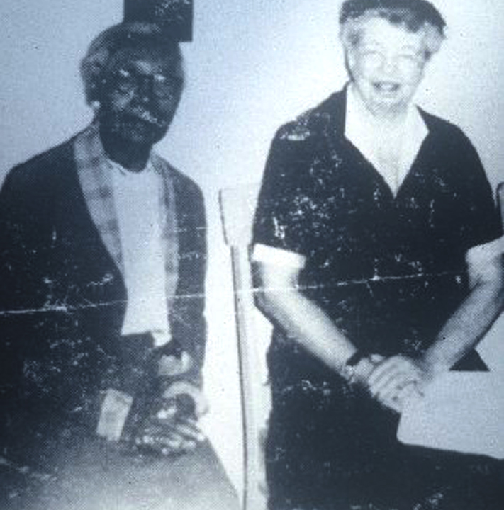 Fannie C. Williams and Eleanor Roosevelt